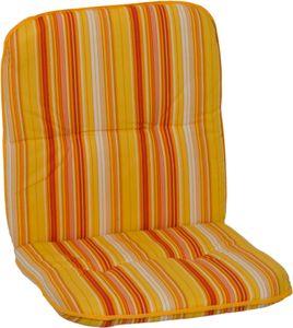 beo Paspelauflage Niedriglehner feine Streifen gelb-creme-orange