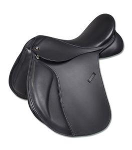 Vielseitigkeitssattel Premium, Leder, schwarz, 17,5 Zoll (44 cm)