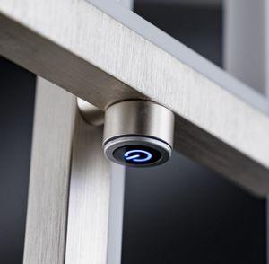 Wofi LED Stehleuchte Viso aus Metall in Nickel
