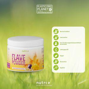 Nutri+ FlavePowder - veganes Geschmackspulver (270g) Mango-Maracuja