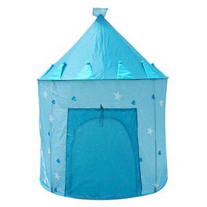 Tragbares Spielhaus Schlafkuppel Tipi Zelt Kinderspielhaus Pink / Blau Blau 100 x 135 mm Zelt spielen