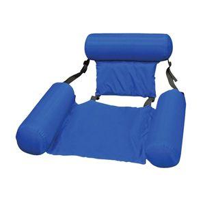 Wasser Hängematte, schwimmen Pool Strand Schwimm Liege Aufblasbare Wasser Hängematte Schwimm Bett Lounge Stuhl  Schwimmen Pool Strand Float Farbe Blau