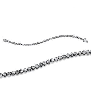 Armband Tennisarmband 750 Weißgold Länge: 18,4 cm 59 Brillanten 4 ct TW-si