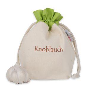 slowroom - Knoblauchbeutel Gemüsebeutel Baumwolle