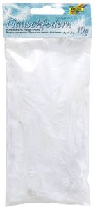 folia Flauschfedern 100 g weiß