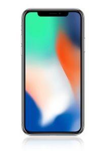 Apple iPhone X 14,7 cm (5,8 Zoll), (12MP Kamera, Auflösung 2436 x 1125 Pixel), Farbe:Silber, Apple Größe:256 GB