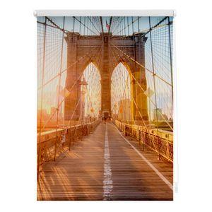Rollo Klemmfix, ohne Bohren, blickdicht, Brooklyn Bridge - 100 x 150 cm (B x L