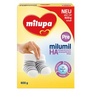 Milumil HA Pre Anfangsnahrung für allergiegefährdete Säuglinge, Pulver, 600 g