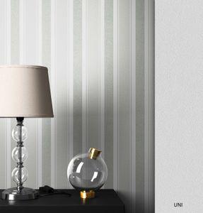 Streifentapete  Grau Vinyl Streifen Modern Landhaus  Streifen Linien  Qasim Muster