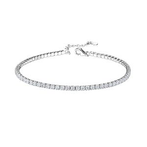 Tennis Armband Damen: Zirkonia Armkette aus 925 Silber