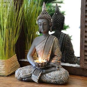 Buddha Figur mit Teelichthalter 30cm