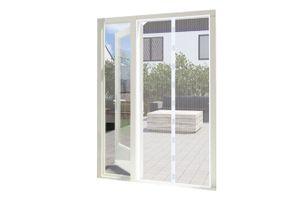 LIFA LIVING weiße Fliegengitter Tür magnetisch 100 x 210 cm, Insektengitter für Türen, Insektenschutz ohne Bohren, Moskitonetz mit Magnet