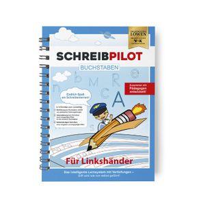 Schreibpilot Heft Buchstaben für Linkshänder mit Bleistift und Radiergummi