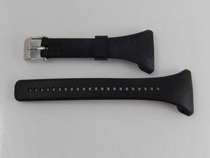 vhbw TPE Ersatz Armband L kompatibel mit Polar FT4, FT4f, FT4m, FT7, FT7m Fitnessuhr, Smartwatch - 11.5cm + 8.5 cm schwarz