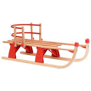 BEST HOME- Outdoor Klappschlitten mit Rückenlehne 110 cm Holz  Sportartikel,Hochwertiger,Wintersport,-Aktivitäten,Schlitten💜6946