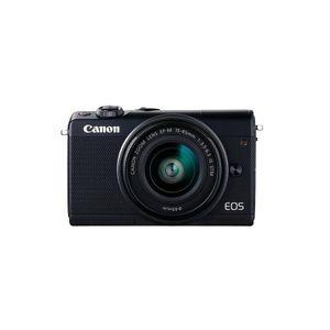 Canon EOS M100 15-45 Kit ( 15-45mm Objektiv,Fronthülle ) Systemkamera, Farbe:Schwarz