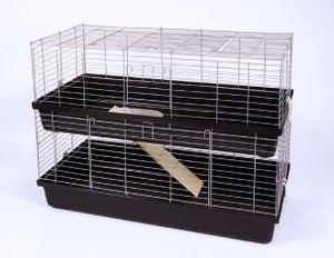Kleintierkäfig Hasenkäfig 100 2-stöckig, 100x58x94 cm
