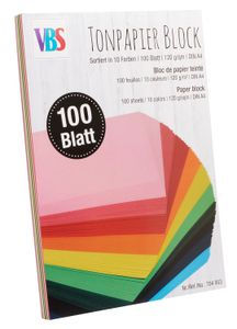 VBS Tonpapierblock, DIN A4, 100 Blatt