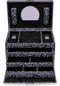 Windrose - Schmuckkästchen Panthera - Violett L - 70040/231