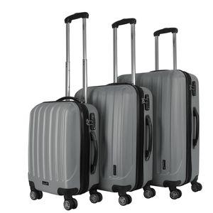 Packenger Premium Koffer 3er-Set Velvet M, L+XL in Grau, 54x31x78 cm; 103-003P-10