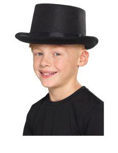 Kinder Kostüm Zubehör Zylinder Hut Karneval Fasching schwarz