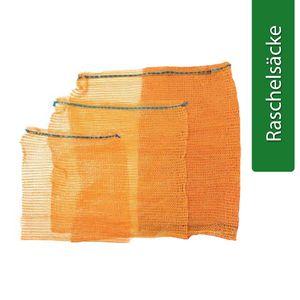 Raschelsäcke für Obst Gemüse Netzsäcke mit Zugband Orange Tragkraft 25 kg 25 Stk