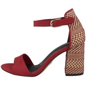 Tamaris Damen Schuhe Sandalen Sandaletten Blockabsatz 1-28356-26, Größe:36 EU, Farbe:Rot