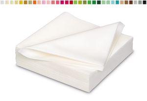 25 stoffähnliche Servietten 40x40cm in , Farbauswahl:weiß 029