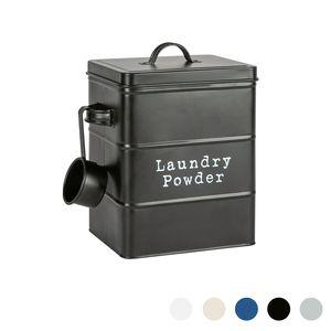 Harbour Housewares Vintage Metall Waschpulver-Speicher-Zinn - Utility Storage Kanister - 18cm - Schwarz