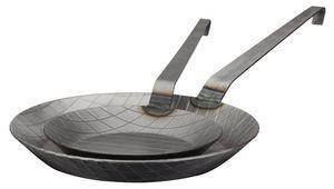 GSW Pfannen-Set Gastro traditionell Eisen geschmiedet 2 tlg., Eisen, Bratpfanne ø ca. 20 x H 3,0cm / ø ca. 28 x H 3,8cm