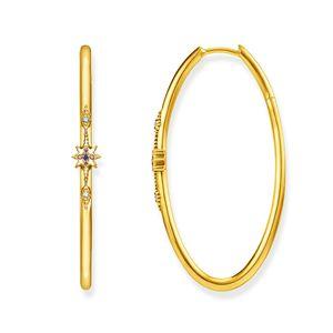 Thomas Sabo CR631-959-7 Ohrringe Creolen Royalty Gold-Ton Silber