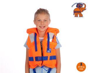 BEMA Rettungsweste für Kinder, mit Pfeife und Sicherheitskragen, Gewicht 20-30kg; 18036