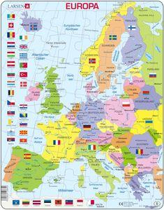 Larsen Puzzle Europa (politische Karte) 48-tlg.