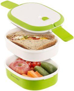 Brotdose 2 Etagen Vesperdose LunchBox Brotbox Proviantbox Vesperbox Brotbüchse
