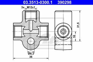 ATE Verbindungs- / Verteilerstück Rohrleitungen