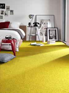 Einfarbiger Teppich Eton für Zimmer, Wohnzimmer, Schlafzimmer, Teppichboden Auslegware, Verschiedene Größen Gelb 250x350 cm