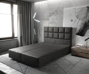 Boxspringgestell Dream-Fine Kunstleder Anthrazit 140x200