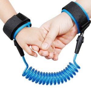 Kindersicherheitsleine, 1,5 m, Kinderleine, Handgelenksleine, Anti-Lost Belt, Blau