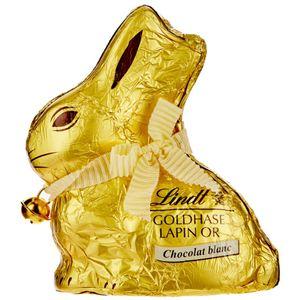 Lindt und Sprüngli Goldhase schimmern mit weißer Schokolade in 50g
