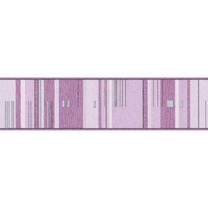 A.S. Création Bordüre Only Borders gestreift violett silber grau 5,00 m x 0,13 m