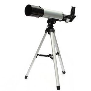 Refraktion 360X50 Astronomisches Teleskop mit tragbarem Stativ Himmel Monokular Teleskop Raumbeobachtungsbereich Geschenk für Anfänger Kinder Kinder