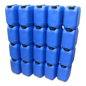 20 Stück 10 Liter 10 L Kanister, Wasserkanister Farbe blau DIN51 (20x10knb51)