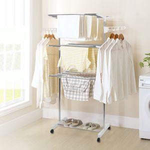 Liplasting Wäscheständer mit Klappflügeln, Luxus Wäscheständer,mit Seitenflügel weiß-OV