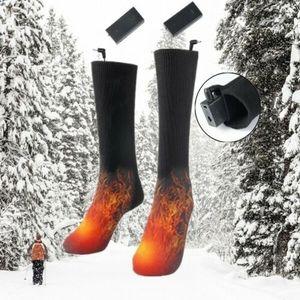 Beheizbare Socken Thermosocken Winter Fußwärmer Elektrisch Sportsocken Uni