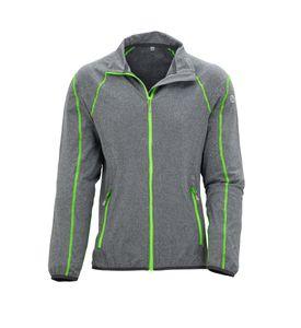 Wäfo Damen 5019 Vals Funktionsshirt Unterziehjacke Sportjacke, hochatmungsaktiv, schnelltrocknend, grau/grün, Größe: 44
