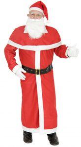 Weihnachtsmann Mantel  mit Bart und Mütze, Größe:XXXL/XXXXL