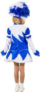 Kinder Kostüm Funkengarde blau-weiß Karneval Fasching Gr.152