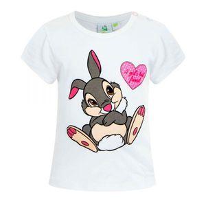 Disney Thumper Baby Tshirt, weiß, Glitzer, Gr. 62-92 Größe - 86
