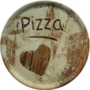 Saturnia 04Z31018 Napoli Flour Pizzateller, 33cm, Porzellan, Heart, 1 Stück