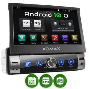 XOMAX XM-VA760: 1DIN Autoradio mit Android 10 Navi 7 Zoll Touchscreen Monitor, Bluetooth, SD und USB